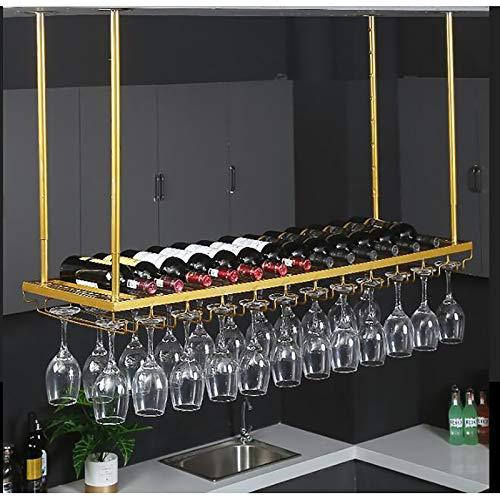 FAFZ Portavini Porta Bicchieri da Vino in Metallo Porta Bicchieri da Soffitto, Altezza Regolabile, Porta Bicchieri da Vino Appesi, Porta Bicchieri da Vino, Porta Calici (Size : 60cm)