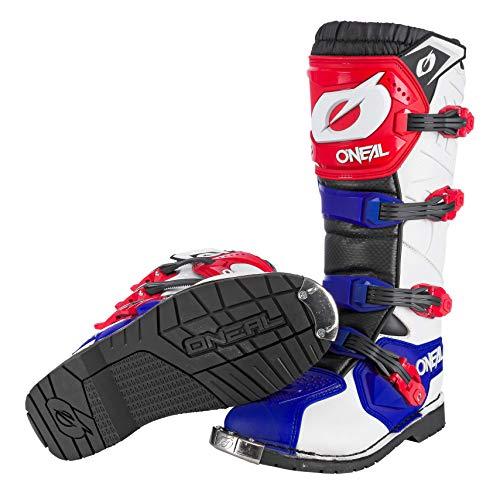 O'Neal Rider Boot MX Cross Stiefel Blau Rot Weiß Motorrad Enduro Motocross Offroad, 0329-7, Größe 42 - 4