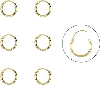 Silver Hoop Earrings- Cartilage Earring Endless Small Hoop Earrings Set for Women Men Girls,3 Pairs of Hypoallergenic 925 Sterling Silver Tragus Earrings(8/10/12mm)
