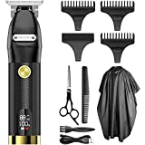 Hair Trimmer for Men, OriHea Professional Zero Gapped T-Blade Outlining Cordless Barber Hair Clippers Hair Cutting Kit with LCD Display