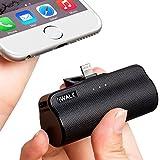 小型 モバイルバッテリー 軽量 3300mAh lightning コネクター内蔵 iPhone SE2/iPhone11/iPhone X/iPhone 8/iPhone7/iPhone6 対応 PSE認証済(ブラック)