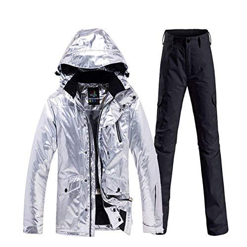 Ski Suit Shining Heren Ski Suit Set Winter Wear Waterdichte Winddichte Mountain Food Sneeuwslijtage Jas en Snowboard Broek