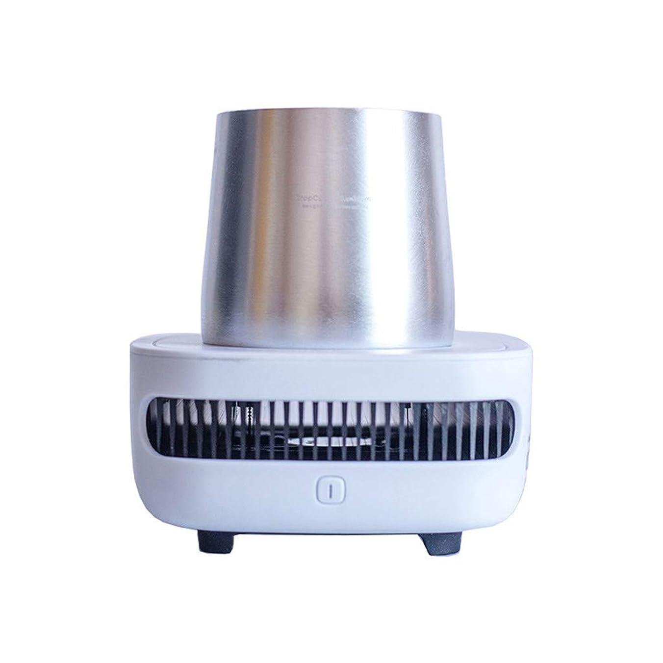 シロクマ乱闘共同選択ドリンククーラー ドリンク クーラーカップクーラー ホルダー ペルチェ 卓上 保冷 冷却 急冷 缶ビール cup cooler 急速 冷蔵 飲み物 温度維持 電動式 ペットボトル (ホワイト)