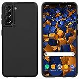 mumbi Hülle kompatibel mit Samsung Galaxy S21 Handy Hülle Handyhülle, schwarz, mumbi_31534