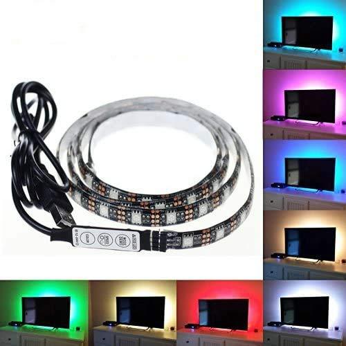 ANKEY TV LED posteriore di illuminazione Kit, 200 centimetri 5V Striscia USB RGB LED Flessibile Impermeabile Bias Illuminazione per HDTV e PC Monitor,Schermo LCD, Laptop, Desktop PC