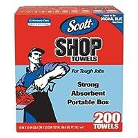Scott Products 75190 Blue Scott Shop タオル 箱入り 200枚入り