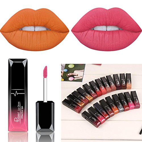 HOTLISTA Matte Lipstick, 21 Colors Lipstick, Long Lasting Lipstick, Nude and Natural Dark Matte Lipstick Non-Stick Cup for Lips Makeup