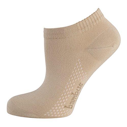 NUR DIE 3 Paar Damen Air Comfort Sneaker Socke (39-42, leinen)