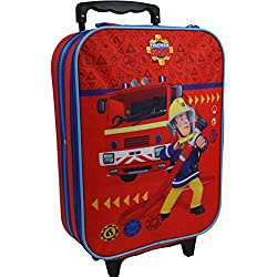 Firefighter Sam Children Suitcase Trolley Children's Suitcase Travel Suitcase Hand luggage 8015