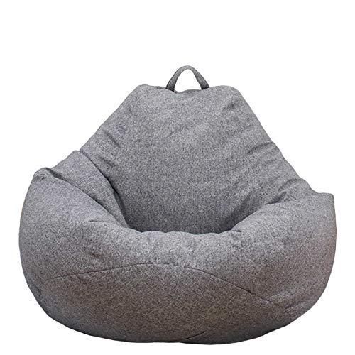 Großer Sitzsack Stuhlbezug Sofa Einfarbig Einfaches Design Indoor Lazy Lounger Bezug Kuscheltier Aufbewahrung für Erwachsene und Kinder ohne Füllung