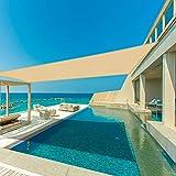Sunnylaxx Sonnensegel 3x4m Sand,Wasserabweisend,95% UV-Schutz,für den Außenbereich,Garten