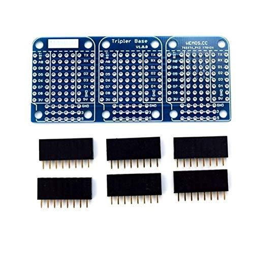 Timetided con Base Triple Adecuada para WeMos ESP8266 Modelo Dua Shield Board Pr¨¢ctica Placa de Repuesto