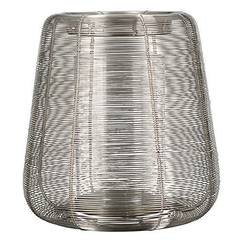 Casablanca - Windlicht/Laterne - Lucerno - Metall/Glas - silberfarben - Höhe 35cm