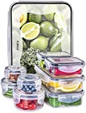 Plastic Food containers with lids - Leak Proof Food Storage Containers - Airtight Containers for Fridge Freezer - BPA Free - Clear Set for Kitchen - 18 Piece - Fullstar