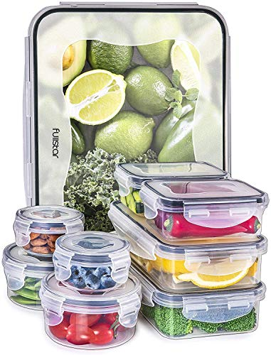 Food Containers with Lids - Food Storage Containers with Lids - Plastic...