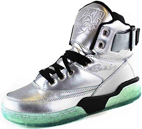 eWing Athletics 33 HI Silver Black Ice Basketball Shoe Men Limited Edition