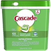 Cascade Dishwasher Pods, Detergent ActionPacs With Dawn Grease Fighting Power, Fresh Scent 90 Count
