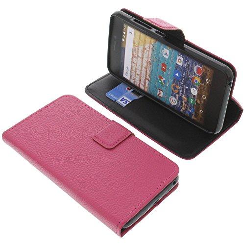 foto-kontor Tasche für Archos 50f Neon Book Style pink Schutz Hülle Buch