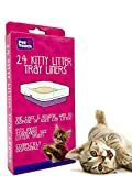 Pet Touch 24 Kitty Cat Litter Trays Liners | Cat Tray Liners | Fits to Most Cat Litter Tray Liners | Disposable & Hygienic Cat Litter Liners (1 Box (24 Liners))