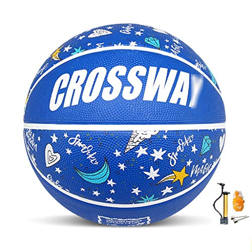Great Price! YE ZI Basketballs- Children's Rubber wear-Resistant Basketball NO.3-4-5-6-7 Indoor and ...