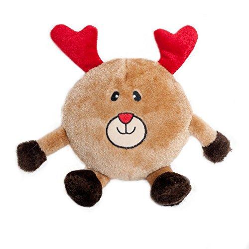ZippyPaws Holiday Brainey Squeak Plush Dog Toy