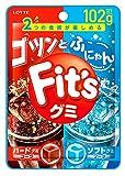 ロッテ Fit'sグミ(ゴツンとふにゃん) 102g ×10個