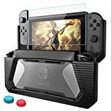 Nintendo Switch Case with Screen Protector,AISITIN TPU Protective Heavy Duty...