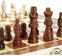 マグネット式チェス チェッカーズセット34x34cm木製の国際チェスセットボード3 in 1旅行ゲームチェスバックギャモンドラフトエンターテイメントチェスゲーム LYXFCY