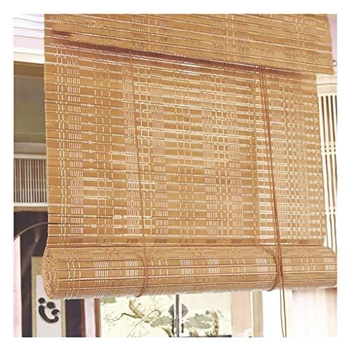 Persiana de bambú de cortina de lámina, persianas enrollables de bambú con elevador, para exteriores / patio / puerta, persianas de sombrilla, material de protección ambiental natural, personalizabl