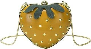 Bageek Strawberry Bag Shoulder Bag Chain Strap Mini Crossbody Bag Satchel Bag for Girls