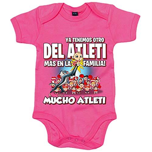 Body bebé ya tenemos otro del Atleti más en la familia - Rosa, Talla única 12 meses