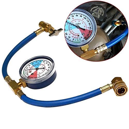 JIEIIFAFH Coche R134A AC Aire Acondicionado Regulable Indicador de presión rápida Conector de refrigerante Adaptador de Conector de colector (Color : Blue)