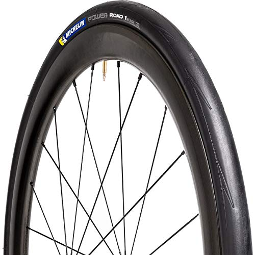 Michelin Power Road TLR Front or Rear Road Bike Tire for Asphalt, X-Race Compound, Tubeless Ready Sealing, 700 x 28C
