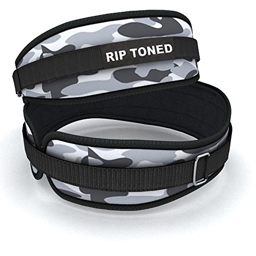 Hebeband Rip straffen,11,4 cm Gewichtheben Rückenstütze & Bonus Ebook