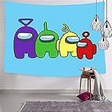 YeeATZ Among Us You Look SUS Tapiz para colgar en la pared, lavable a máquina, diseño de póster de decoración de pared para dormitorio, 60 x 80 pulgadas