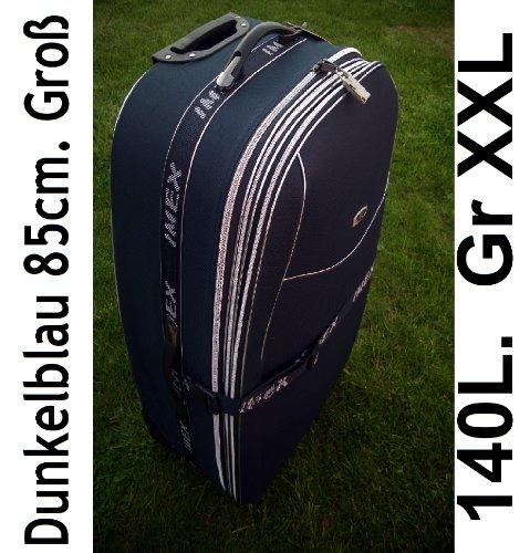 Trolley XXL da 85 cm, 130/180 l, estendibile, 2 ruote, 3 colori: nero, blu, rosso