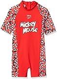 Speedo Disney Mickey Mouse Unisex para Niños Mono De Baño, Rojo...