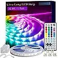 LED Strip Lights, 32.8ft 1 Roll RGB 5050 LED Lights for Bedroom, Room, Kitchen, Home Decor DIY Color Changing Led Light Strip Kit with 44key Remote and Power Supply