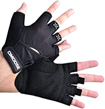 DMOOSE Workout Gloves for Men and Women - Fitness, Exercise, Training, Gym, Works to Increase Gains - Without Wrist Support Black L