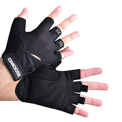 DMoose Workout Gloves for Men and Women, Weight Lifting Gloves with Wrist Support, Full Palm Protection, Perfect Grip for Deadlift Fitness Gym Exercise Training