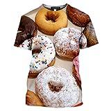 T-Shirt Uomo 3D Stampato Ciambella Ciambella Ciambella Dolce Biscotti Estate Manica Corta Harajuku Camicia Fitness 11 L