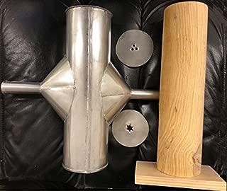 Made in Mexico Mejicana Churrera Churro Maker Churros Manual Hand Machine Metal/Wood w/2 molds