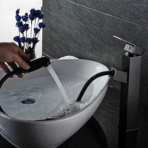Sola manija baño Cuenca Grifos fría/caliente de mezclador del lavabo del fregadero de la cocina grifo Negro Agua del grifo accesorios de baño, Negro