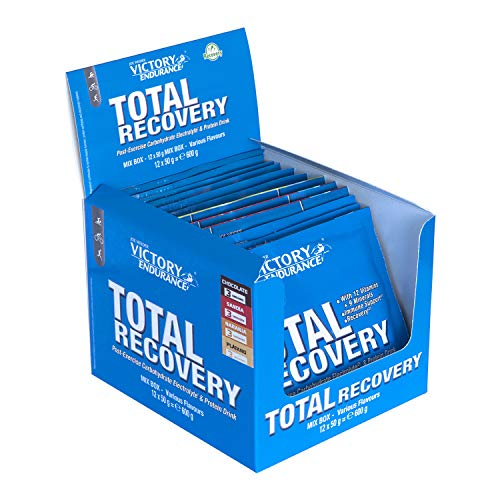 VICTORY ENDURANCE Total Recovery, Mix Box, Sobres 12 Unidades, 12 x 50 g