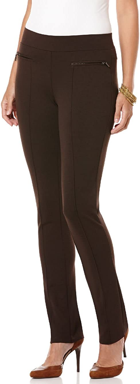 Rafaella Women's Slim Comfort Fit with Ponte Pant Ranking TOP12 Zips Free shipping