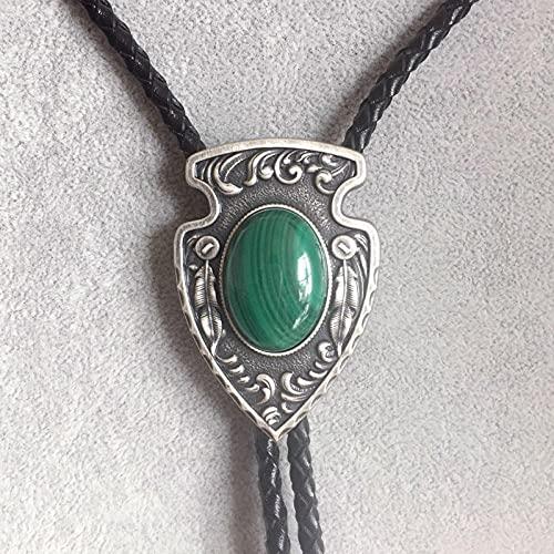 Suministros de Corbata bolo Plata Plateado Piedra Corbata Collar de Cuero Novedad Colgantes y Monedas Corbata de bolo AMINÍ
