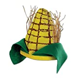 Adult Yellow Corn Cob Plush Novelty Hat