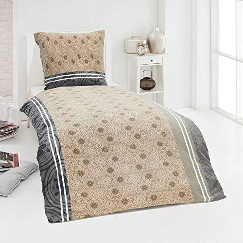 DreamHome Warme Microfaser Fleece Winter Bettwäsche Kuschel weich 135x200 Kissenbezug, Design - Motiv:Design 7