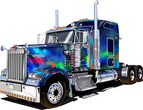 LSDEERE Malen nach Zahlen Kits für Erwachsene und Kinder Cartoon Auto großen LKW LKW mit Pinsel und Acrylpigment DIY Digitale Leinwand Malerei für Erwachsene...