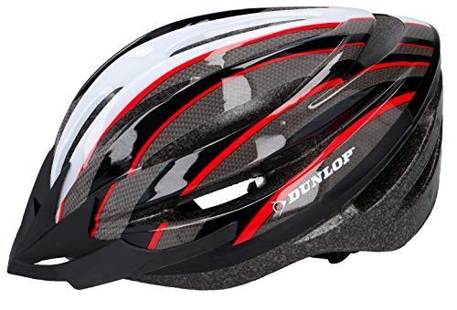 Dunlop Fahrradhelm Visier MTB Fahrrad Mountainbike Rad Helm Radhelm Schutzhelm Gr. 58-61 (rot/schwarz)